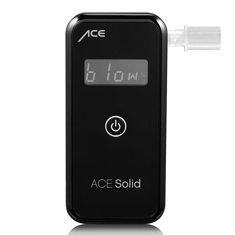 Breathalyzer ACE Solid + 25 Mouthpieces + Calibration Voucher (ACE Sensor: S)